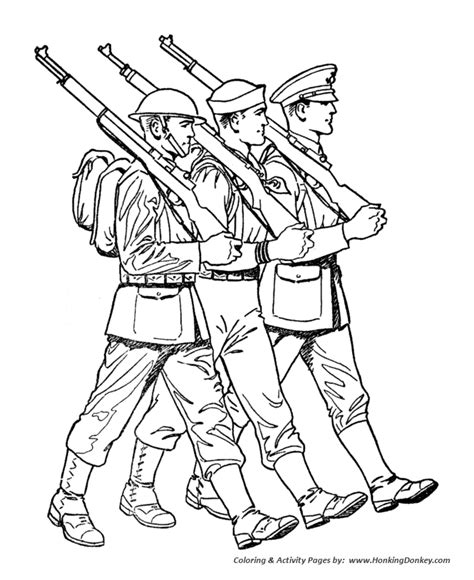 Armed Forces Day Coloring Pages Ww1 Us Marine Sailor Coloring Pages Soldiers
