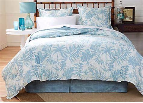 palm bedding blue palm leaf comforter nautical snob