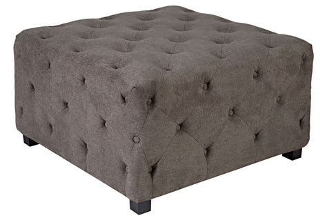 Large Tufted Ottoman Duncan Large Tufted Smoke Gray Cube Ottoman At Gardner White