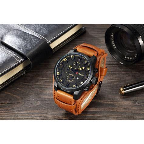 Jam Tangan Pria Mk curren jam tangan analog pria mk54 yellowish brown jakartanotebook