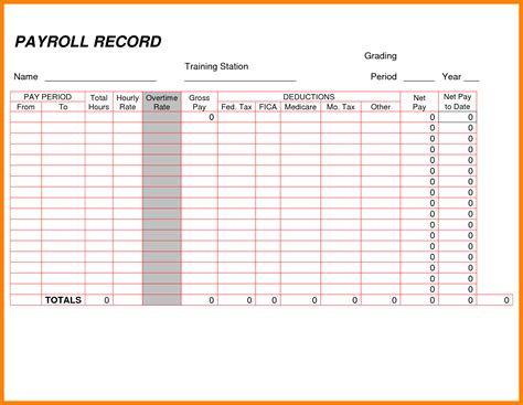 payroll register template employee payroll ledger template employee payroll