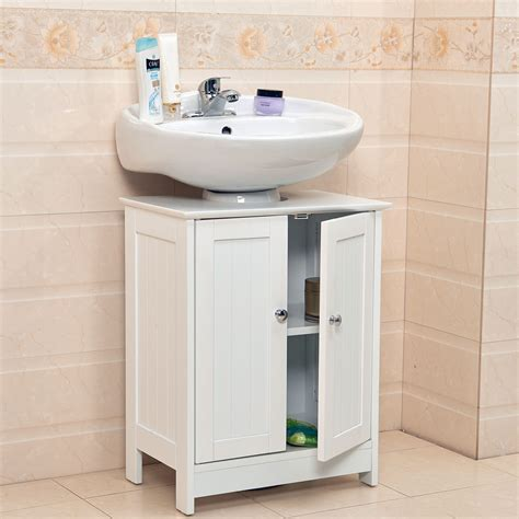 Bathroom Sink Storage Undersink Bathroom Cabinet Cupboard Vanity Unit Sink Basin Storage Wood Ebay