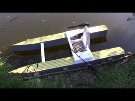 wooden micro catamaran project plans youtube