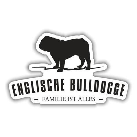 Heckscheibenaufkleber Bulldogge by Aufkleber Englische Bulldogge Silhouette