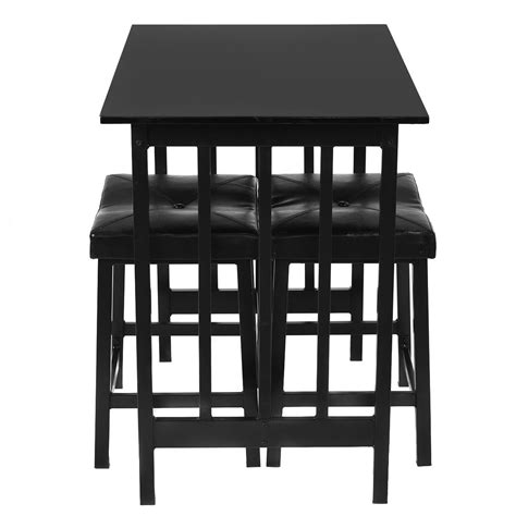Kitchen Bar Table And Chairs Kitchen 3pcs Modern Counter Height Dining Set Table And 2 Chairs Bar Furniture Ebay