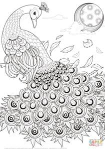 cool coloring pages adults peacock coloring