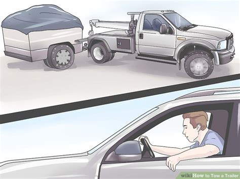 how to tow a car how to tow a trailer with pictures wikihow
