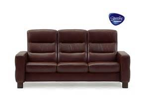 sofa stressless stressless wave high back three seater sofa from dansk