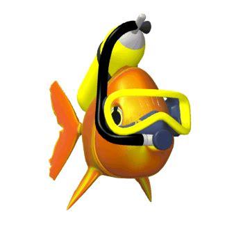 film fisch emoji animated scuba fish swimming hg wht 1