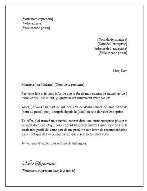 Exemple De Lettre De Demission Fin De Periode D Essai Lettre De D 233 Mission Pour Fin De Contrat Lettreded 233 Mission Org