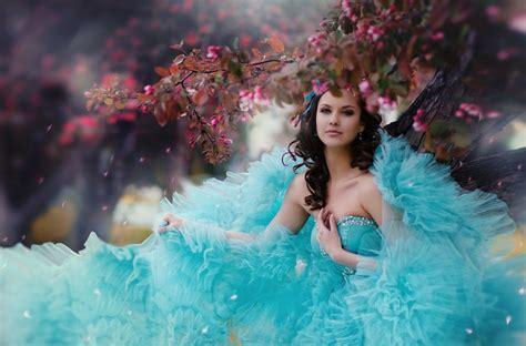 wallpaper girl dress beautiful girl wears cool blue dress wallpaper