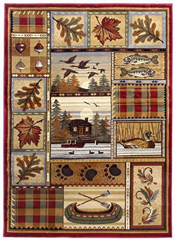 cabin themed rugs rugs 4 less collection wilderness nature themed cabin style area rug design r4l 759 5 x7 area r