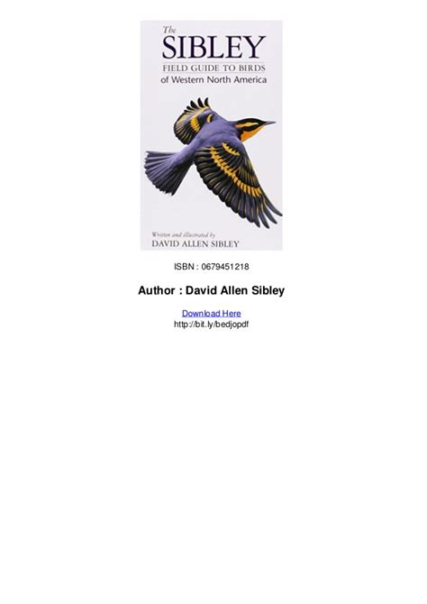 the sibley field guide to birds of western north america pdf