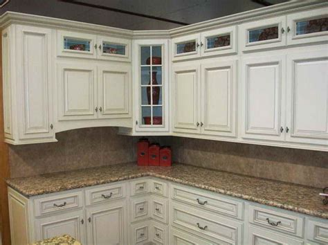 White Kitchen Cabinets With Glaze Kitchen How To Make Glazed White Kitchen Cabinets With The Counterop How To Make Glazed White