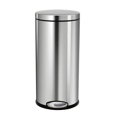 ideas trash can with lid trash cans home depot stainless