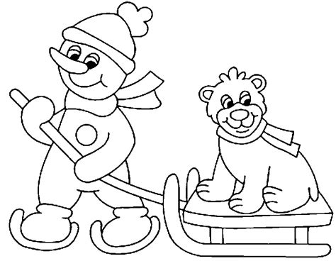 free coloring pages winter scenes winter scene coloring pages az coloring pages