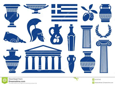 Vase Decoration by Symbols Of Greece Stock Vector Image Of Bottle Classical