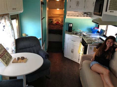 rv renovation ideas and pictures class c two twenty somethings transform their 1994 coachmen