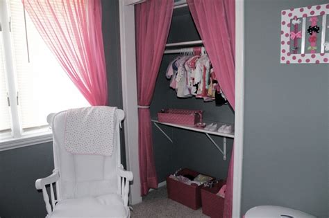 curtain instead of door used curtains instead of closet doors i love it