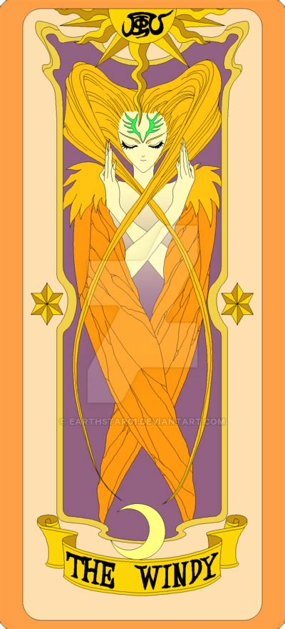 Clow Cards The Windy Template by Clow Card The Windy By Earthstar01 On Deviantart