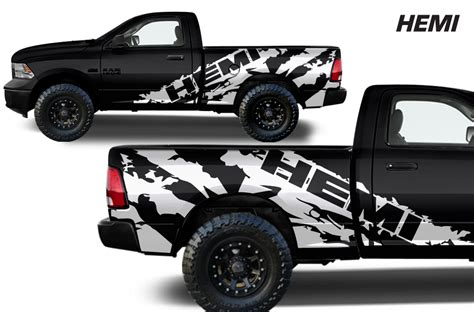 dodge ram hemi decals dodge ram midbox truck 1500 2500 2009 2014 custom vinyl