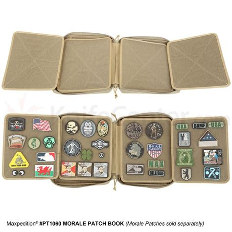 Maxpedition Morale Patch Book maxpedition pt1060g morale patch book od green knifecenter