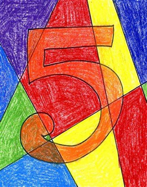 painting math abstract numbers projects for