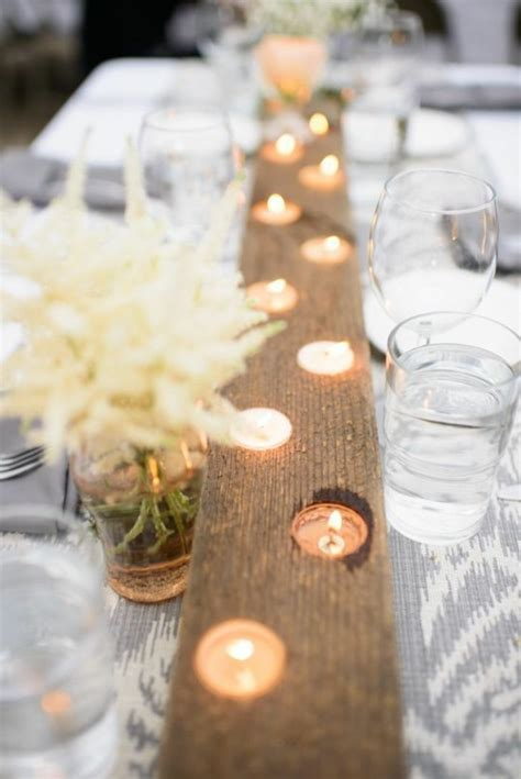 Tischdekoration Hochzeit Holz by Tischdeko Mit Holz Gem 252 Tliche Atmosph 228 Re Zum Feiern