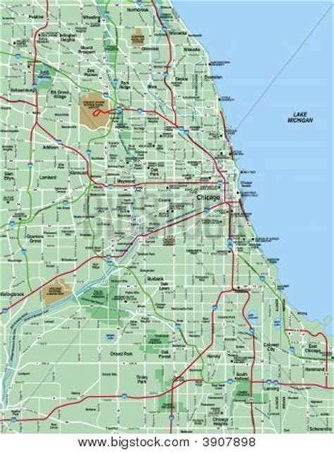 map of greater chicago area greater chicago metropolitan area map stock photo stock