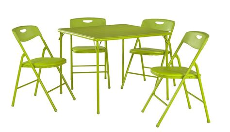 amazon card table chairs amazon com cosco products 5 folding table and chair