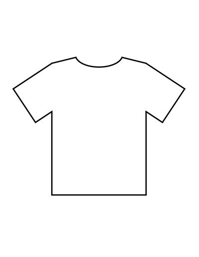T Shirt Outline by Blank T Shirt Templates Pdf