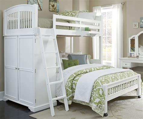 white bunk beds twin over full twin over full locker loft bunk bed 8060 walnut street collection ne kids furniture