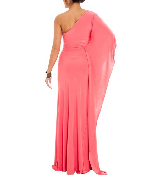 Maxi Dress Promo Sale secretsales discount designer clothes sale coral cape sleeve la maxi dress