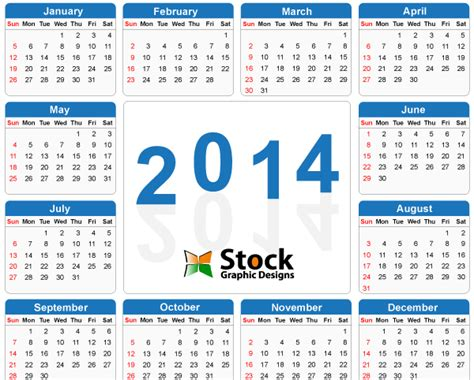 2014 calendar vector free download free printable pdf