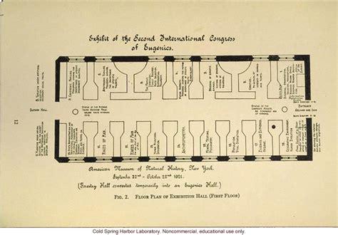 Floor Plans quot exhibit of the second international congress of eugenics