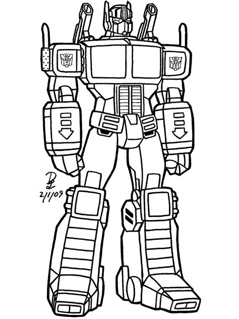 free coloring pages of draw transformers g1