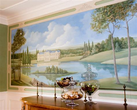 dining room murals french pastoral mural traditional dining room new