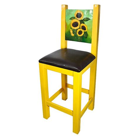 la candona collection painted sunflower bar stool