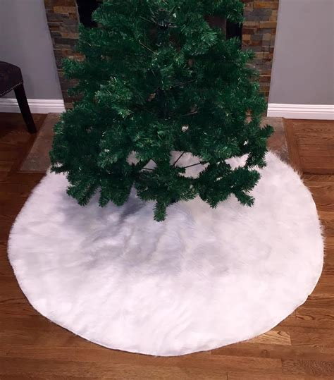 faux fur christmas tree skirt white faux fur tree skirt fur