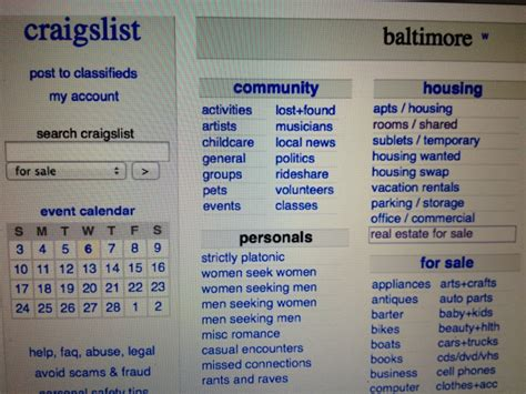 Baltimore Apartments On Craigslist Be Cautious When Using Craigslist For Rentals In Baltimore
