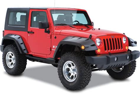 wide jeep bushwacker 11 75 quot width pocket style fender flares in oem
