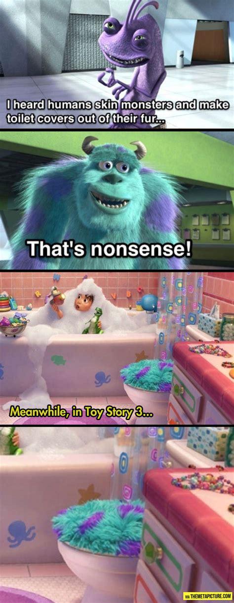 monsters in the bathroom one of the darkest jokes in pixar history