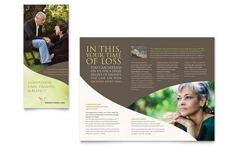 Memorial & Funeral Program Brochure Template   Word