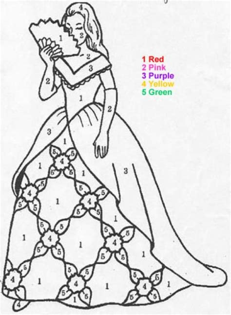 princess coloring pages by numbers coloring pages princess color by number 101 coloring pages