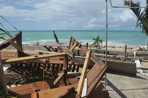 boat house tavern st maarten beach bars continue recovery from gonzalo