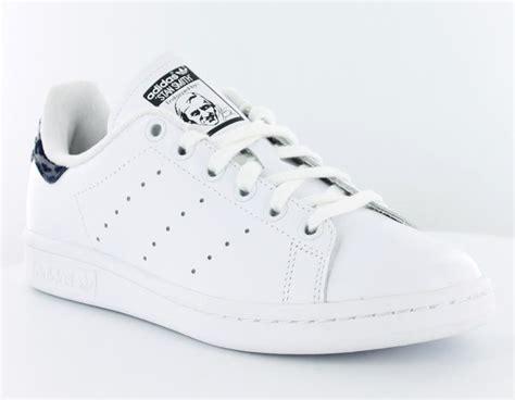 Adidas Stant Smit Formen adidas stan smith femme blanc bleu leopard achat vente