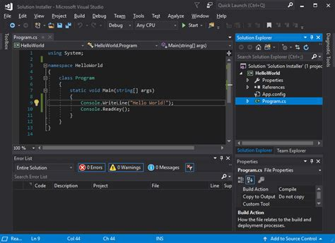 tutorial visual studio setup project create an installer from visual studio