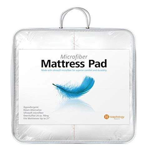 Microfiber Mattress Topper by Hospitology Heavenly Microfiber Goose Alternative