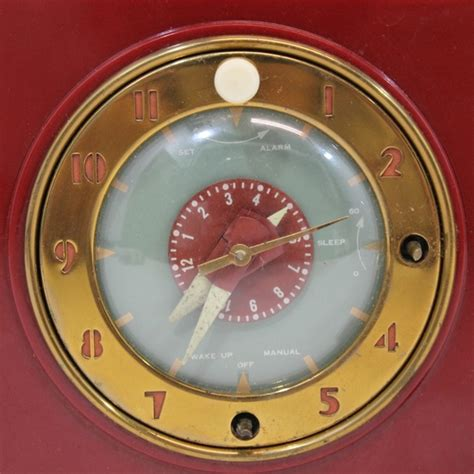 vintage 1951 general electric ge radio alarm clock model 517 radio nr ebay