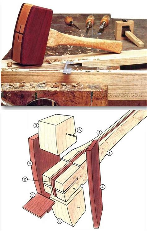 woodworking mallet plan wooden mallet plans tools tips and techniques